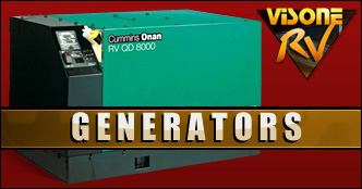 Generators CUMMINS ONAN RV QD 10000 USED MOTORHOME 10HDKCA-11608G GENERATOR FOR SALE